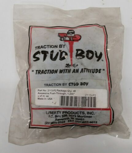 stud boy studs assassins push through 1.200 part# 2113-p2 qty 48