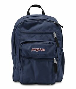 Jansport BIG STUDENT Large Backpack Black Navy Grey Pink Red Zebra Blue Purple