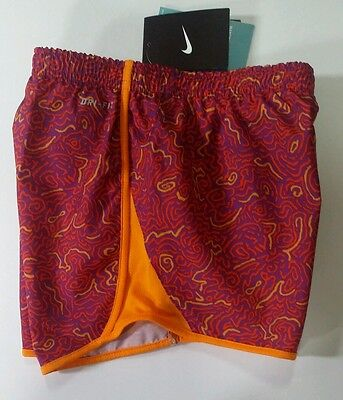 Nike Shorts Girls Dri Fit Tempo Running Shorts Maze Print Multi Colors Youth L