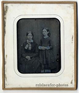 1/4 Platte Daguerreotypie. Mutter und Tochter vom 19. August, 1852