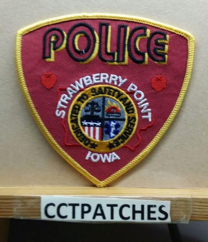 STRAWBERRY POINT, IOWA POLICE SHOULDER PATCH IA