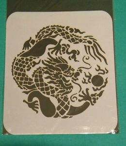 Chinese dragon Mylar reusable stencil 10 mils for Airbrush design art tattoo