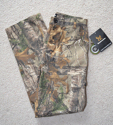 Buckmaster Hunting Youth 6 Pocket Realtree Xtra Camo Cargo Pants Boys L or XL  ()
