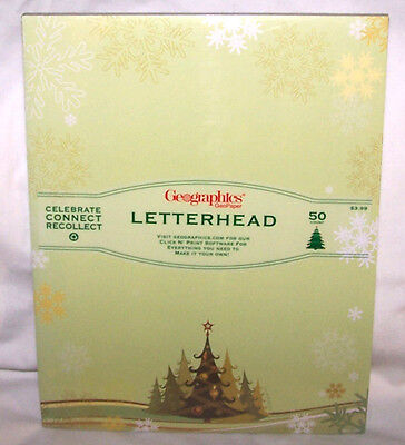 Geographics Letterhead Computer Printer Paper Merry & Bright Christmas Trees ()