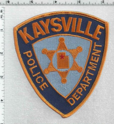 Kaysville Police (Utah) 2nd Issue Shoulder Patch