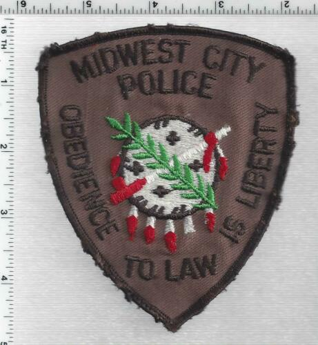Midwest City Police (Oklahoma) 3rd Issue Uniform Take-Off Shoulder Patch