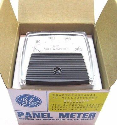 Ge General Electric 0-200 A-c Milliamperes Panel Meter Gauge