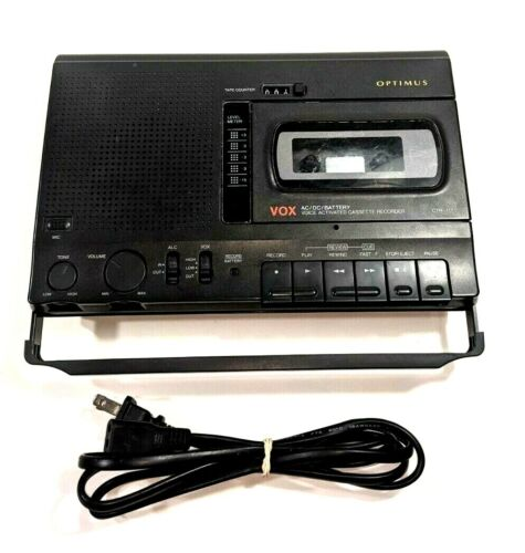 Optimus Radio Shack Voice Activated Cassette Recorder CTR-117 - Tested/Works