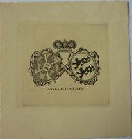 Exlibris, Ex Libris Wallerstein Art Nouveau, Stemma/nobile (1) -  - ebay.it