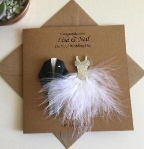 Handmade Personalised Wedding Card, Bride and Groom, Congratulations, Newlyweds