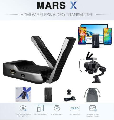 HOLLYLAND MARS X 300FT Wireless HDMI Video Transmission OLED built in Battery