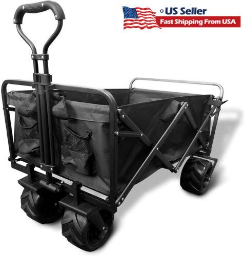 Heavy Duty Collapsible Wagon cart outdoor Folding Portable Utility Garden Beach