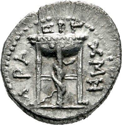 LANZ Antiochia Asien Nero Drachme 3/56 AD Nominal Schlange Dreifuß Äskulap @1581