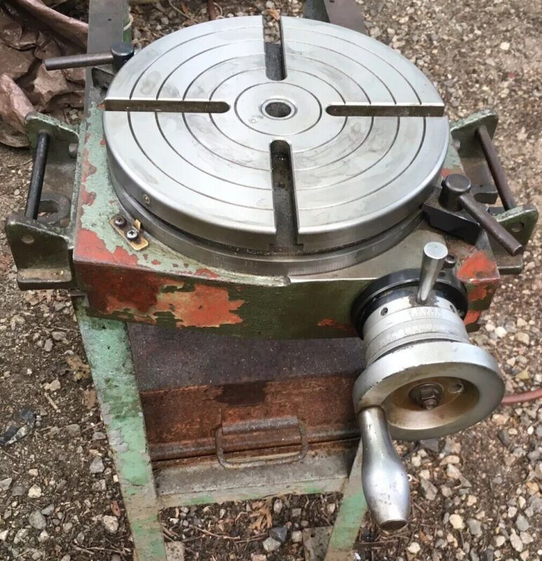 """10"""" Rotary Table for Bridgeport Milling Machine Machinist Tool Rotating Mill Tab"""