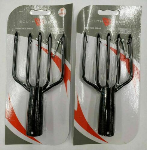 2 Packs South Bend Frog Gig Spear 5 Tine, Heavy Duty for BIG FROGS...