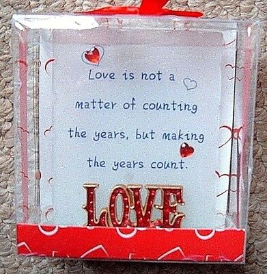 MOTHERS DAY / VALENTINES GLASS LOVE PLAQUE love is not a matter of counting the