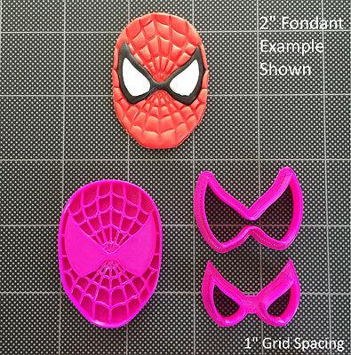 Spiderman  Fondant Cutter / Cupcake Topper / Cookie Topper - Spiderman Cupcake Topper