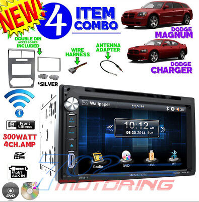 SILVER 05 06 07 DODGE MAGNUM CHARGER TOUCHSCREEN BLUETOOTH CD DVD RADIO STEREO