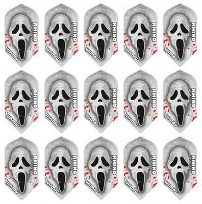 5 New Sets Winmau Rhino Slim 100 Micron Dart Flights – Scream