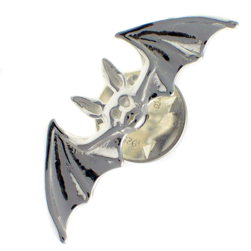 Sterling+925+British+Silver+Bat+Lapel+Pin+Brooch+by+Welded+Bliss