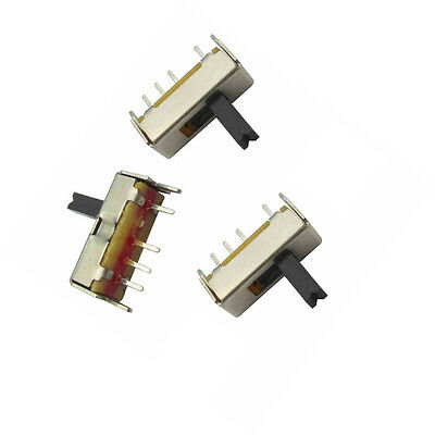 25pcs Ss13d07 Slide Switch 1p3t 4pin W Handle 6mm 3 Position F Diy Electronic