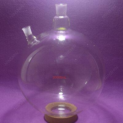20000ml20l2-neckround Bottom Glass Flaskcustomized Ground Joints