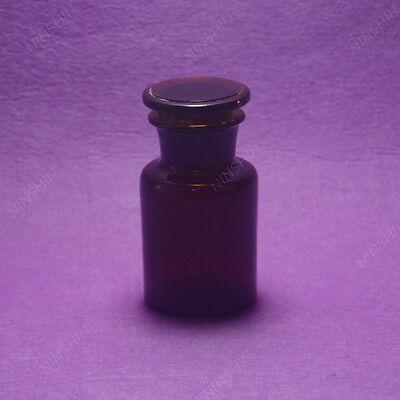 125ml Amber Glass Reagent Bottlewide Mouthground Stopperlab Bottle