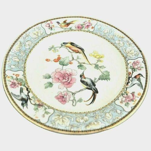 "W. H Grindley Bread Dessert Plates Dishes Bird of Paradise set 4 - 8"""