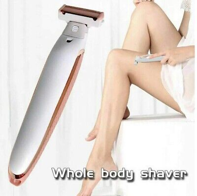 Eléctrico Mujer Afeitadora Rasuradora Bikini Cortapelos Cuerpo Facial Depilación