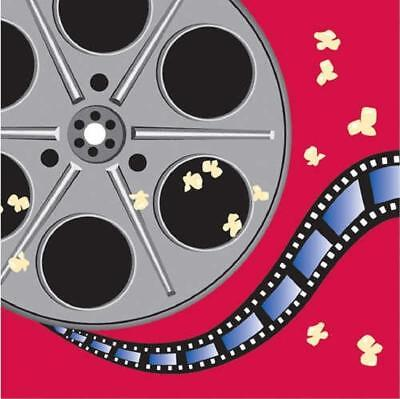 Reel Hollywood Movie Night Camera Reel Prom Theme Party Paper Luncheon Napkins
