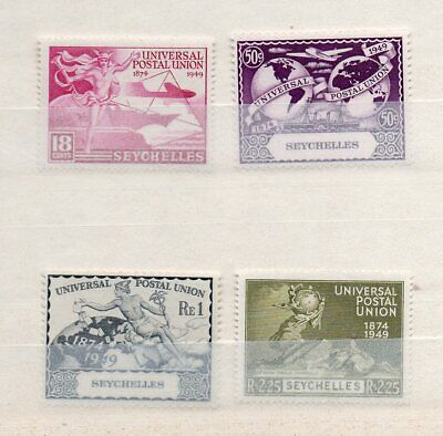 SEYCHELLES KGVI  1949 UPU COMPLETE SET of 4 MINT ( NEVER HINGED? ) STAMPS