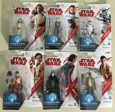 Star Wars Force Link 6-pack LUKE, REY, POE, KYLO REN, FINN & STORMTROOPER New