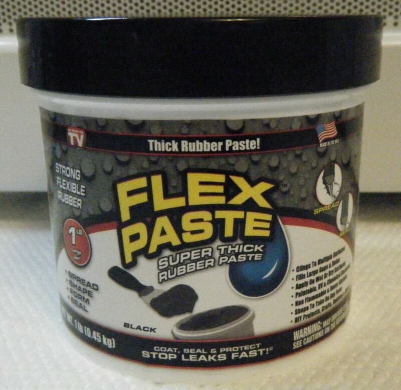 FLEX SEAL Flex Paste BLACK / WHITE Super Thick Rubber Paste 1 lb Jar *SHIPS FREE