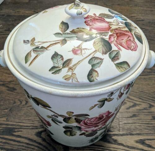Antique George Jones & Sons Chamber Pot, Victorian Our Roses Pattern