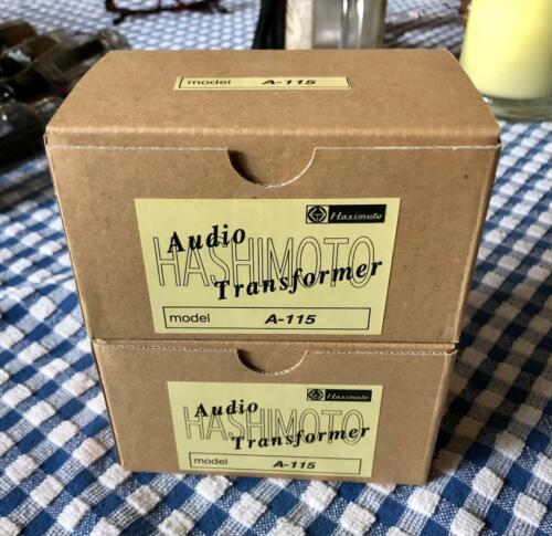 Pair Hashimoto A-115 Interstage Transformers 2A3 300B 45 Tube