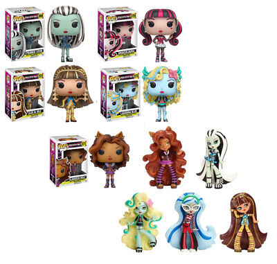 HIGH GIRLS collection lot of 5 & 5 Vinyl toy doll figures (Monster High Tv)