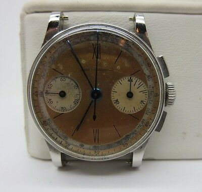 RARE VINTAGE GIRARD PERREGAUX CHRONOGRAPH 30MM STAINLESS STEEL