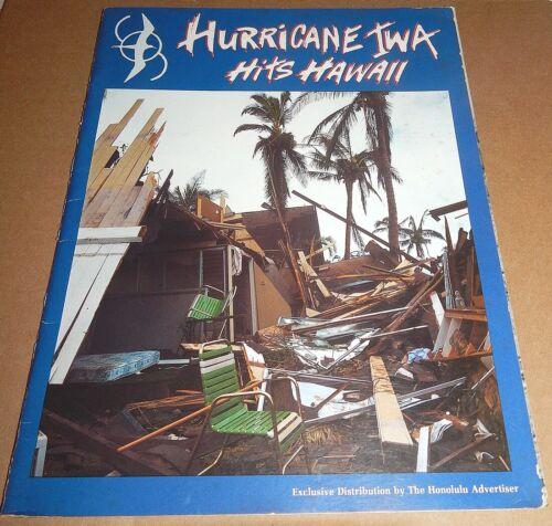 Hurrican Iwa Hits Hawaii Honolulu Advertiser Commemorative Book 1982