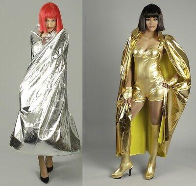 Umhang Cape gold silber Kostüm Königin Magier Damen Girl Venezia Weltall Space