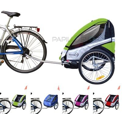 Rimorchio bici bicicletta per trasporto bimbo bambino carrello da carrellino x