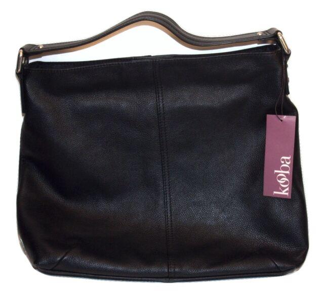 Genuine Leather Kooba Hobo Shoulder Bag Gk0836 Black | eBay