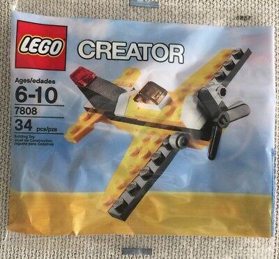 LEGO Creator set 7808 Yellow Plane Polybag NEW Sealed 34 pcs Free Ship..
