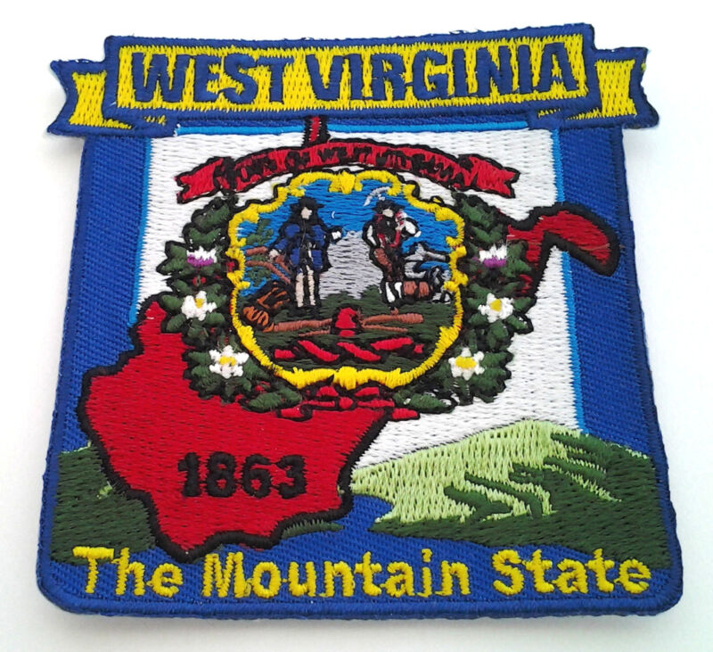 WEST VIRGINIA STATE MAP Biker Patch PM6749 EE