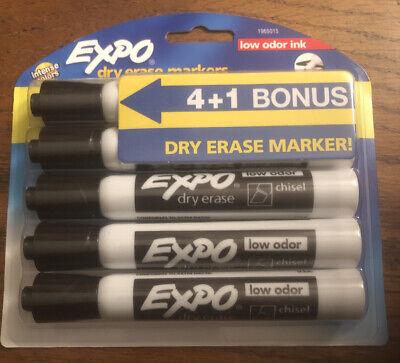 Expo Dry Erase Markers Black Low Odor 5 Pack 4 1 Bonus