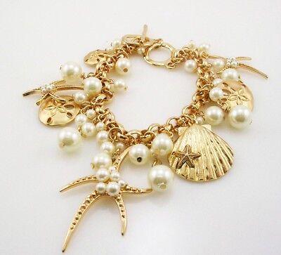 Joan Rivers Star Fish Charm adjustable Toggle  Bracelet 7