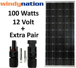 100W Watts 100 Watt  Mono Solar Panel Off Grid 12 Volt 12V RV Boat Off Grid
