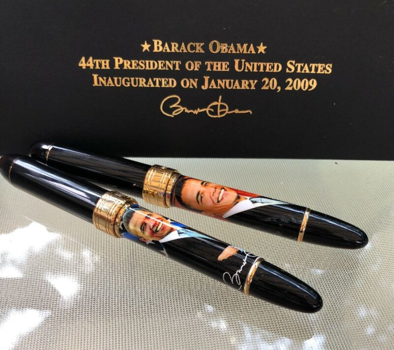 Barack Obama Pen Set With Authenticity Certificate