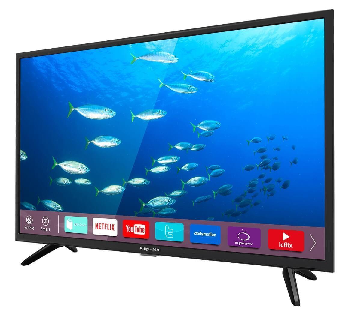 Krüger & Matz KM0232-S 32 Zoll HD WLAN Smart TV Triple Tuner DVB-T2/S/C A+ USB