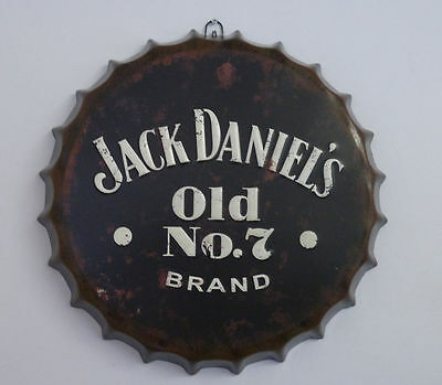 New Retro Vintage Jack Daniels Metal Bottle Top Sign Tin Wall Hanging Plaque