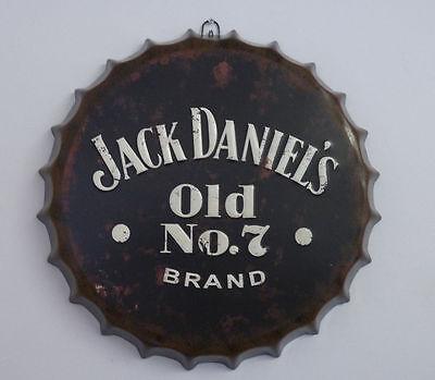 New Retro Vintage Jack Daniels Metal Bottle Top Sign Tin Wall Hanging Plaque